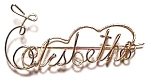 Elisbeth Name Gold Wire Brooch Pendant