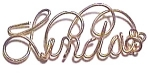 Click to view larger image of Linda Name Gold Wire Pendant (Image1)