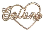 Collen Name Gold Wire Heart Pendant