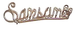 Click to view larger image of Samson Name Gold Wire Pendant (Image1)