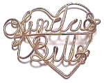 Click to view larger image of Linda & Bill Gold Wire Heart Pendant (Image1)