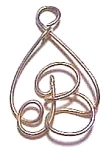 Click to view larger image of Letter 'B' in Tear Drop Design Pendant (Image1)