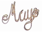 May Name Gold Wire Pendant