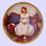 Click here to enlarge image and see more about item nrpltewtdnce1: Norman Rockwell vintage plate 'Waiting at the Dance'