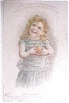 Click here to enlarge image and see more about item pan1: Vintage ad mince meat pie little girl