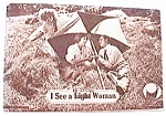 Click here to enlarge image and see more about item pc11: Vintage Postcard - I See a Dark Woman