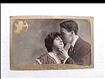 Click to view larger image of Vintage real photo postcard - Promised to be Mine (Image1)