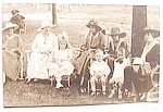 Antique real photo postcard - Picnic