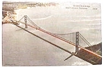 Click to view larger image of Antique photo post card - Golden Gate Bridge (Image1)