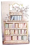 Click here to enlarge image and see more about item pc33: Books of the Bible vintage postcard