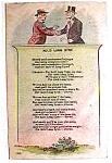 Auld Lang Syne vintage post card