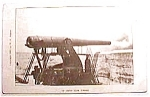 Click here to enlarge image and see more about item pc39: 12 inch gun firing vintage postcard