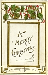 Click to view larger image of Vintage Antique Christmas Post Card 1908 (Image1)