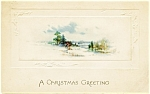 Click here to enlarge image and see more about item pcch21:  Vintage Post Card 'A Christmas Greeting' 1922