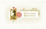 Click to view larger image of Vintage Postcard Christmas Greetings 1922 (Image1)