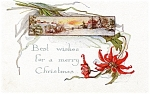 Click here to enlarge image and see more about item pcch31: Vintage Christmas Post Card 1917