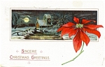 Click here to enlarge image and see more about item pcch33: Vintage Christmas Post Card 1906