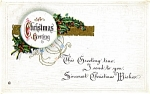 Click to view larger image of Vintage Christmas Post Card Minersville, Pa. (Image1)