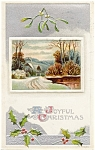 Click here to enlarge image and see more about item pcch38: Vintage Christmas Post Card 1909