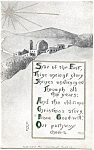 Click to view larger image of Vintage Christmas Post Card 1912 (Image1)