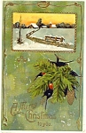Click to view larger image of vintage Christmas Postcard  1910 (Image1)