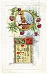 Click here to enlarge image and see more about item pcch58: Christmas Postcard Winter Scene 1916
