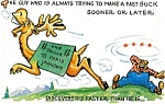 Click to view larger image of Postcard Humor Buck Dollar #132 (Image1)