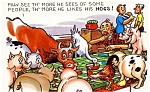 Click here to enlarge image and see more about item pchum7: Postcard Humor Hogs #184