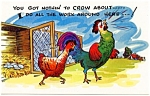 Click to view larger image of Postcard Humor Rooster Chicken #186 (Image1)