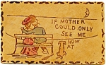 Click to view larger image of Antique Leather Post Card Mother (Image1)