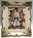 Click here to enlarge image and see more about item pichum6: Vintage Hummel picture in frame