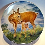 Click to view larger image of Collector plate deer 'A Reassuring  Touch' 1985 (Image1)