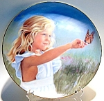 Click here to enlarge image and see more about item plbbnn5: Butterfly Beauty Nancy Noel collector plate 1986