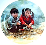 Click to view larger image of Chinese Chess collector plate by Kee Fung Ng (Image1)