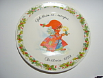 Click here to enlarge image and see more about item plchr11: Gigi  'God Bless us Everyone' collectible plate 1972