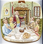 Click here to enlarge image and see more about item pldoul72: Doulton 'Christmas in England' collectible plate 1972