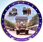 Click here to enlarge image and see more about item plfopdc2: World War II 'Freeing of Paris' collector plate