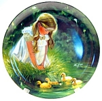 Click here to enlarge image and see more about item plgmdz2: Golden Moment Donald Zolan collector plate 1984