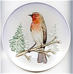 Click here to enlarge image and see more about item plgoe73: Goebel Plate 'Robin' 1973
