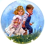 Click here to enlarge image and see more about item pljajjm1: Jack and Jill John McClelland collector plate 1986