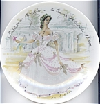 Click here to enlarge image and see more about item pllimcr76: Limoges Plate 'Scarlet in Crinoline' 1976