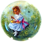 Click here to enlarge image and see more about item pllmm1: Little Miss Muffet John McClelland collector plate 1981