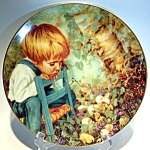 Click here to enlarge image and see more about item plmm82: Michael's Miracle Nancy Turner collector plate 1982