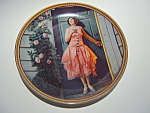 Click here to enlarge image and see more about item plnrsd11: Norman Rockwell plate 'Standing in the Doorway' 1983