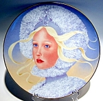 Click here to enlarge image and see more about item plprsnflke1: Princess Snowflake collector plate 1978