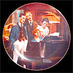 Norman Rockwell plate 'Close Harmony'