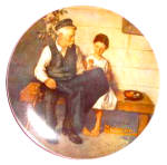 Click to view larger image of Rockwell Plate 'Lighthouse Keeper's Daughter' (Image1)