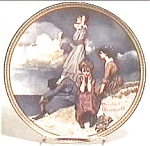 Click to view larger image of Norman Rockwell plate 'Waiting on the Shore' (Image1)