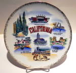 California state vintage collector plate