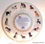 Click here to enlarge image and see more about item pltdg1: 'The Dog' bone china vintage plate by Mary Browning